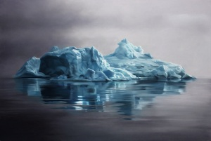 "Greenland #59, 30""x44"", Soft Pastel on Paper, 2013 by Zaria Forman"