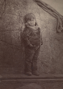 Fig 6. . John. L. Dunmore (fl.1860-1875) and George Critcherson (1823-1892). 'An Esquimaux pet, a boy about eight years old.'